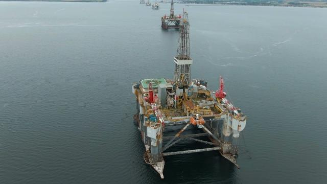 Scottish Oil Rig Explored DRONE FOOTAGE