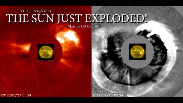 The Sun just EXPLODED in a Massive Jaw dropping HALO CME!