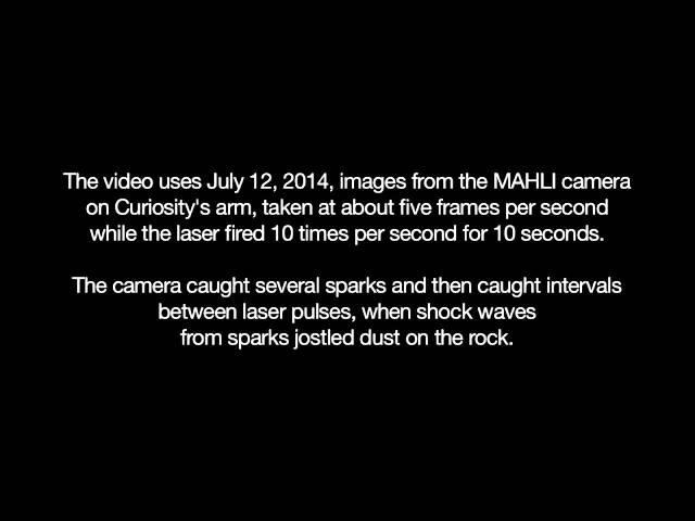 Curiosity's Laser Sparks a Mars Rock | Video