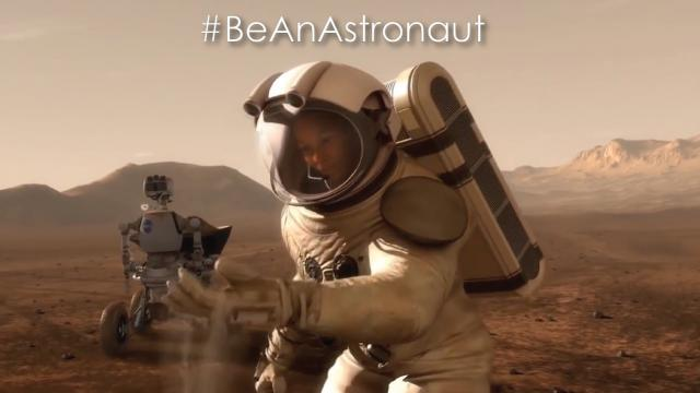 #BeAnAstronaut