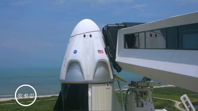 SpaceX Demo-2 launch: 'Weather is go' at T-49 minutes