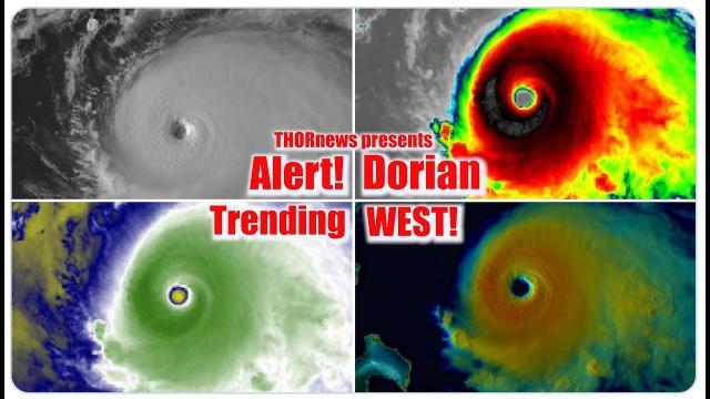 Florida & SE ALERT! Category 4 Hurricane Dorian is now Trending West!