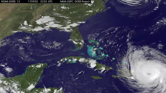 Hurricance Maria - Latest Satellite View: Sept. 21, 2017