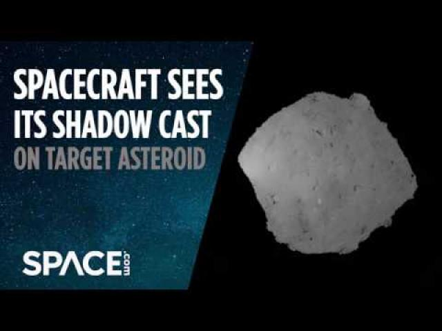 Hayabusa2 Spacecraft Sees Its Shadow Cast on Asteroid