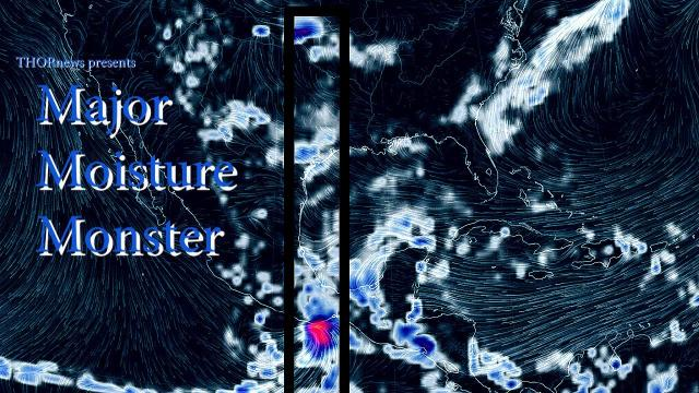 TX Alert! Monster of Moisture to attack Texas, Mexico & Gulf States