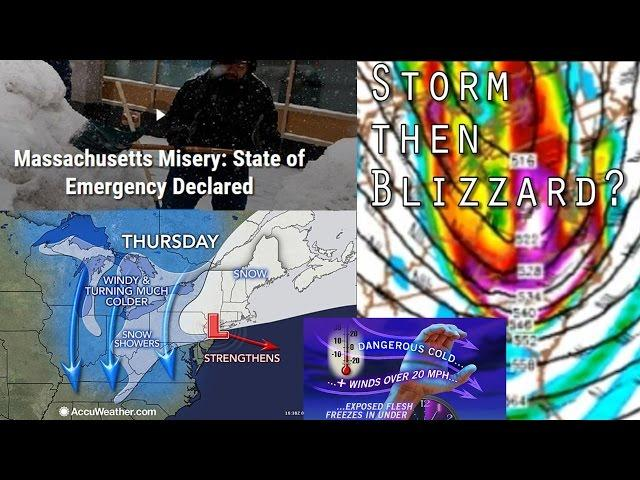 Snow storm & then possible huge Blizzard to Hit NE American Coast