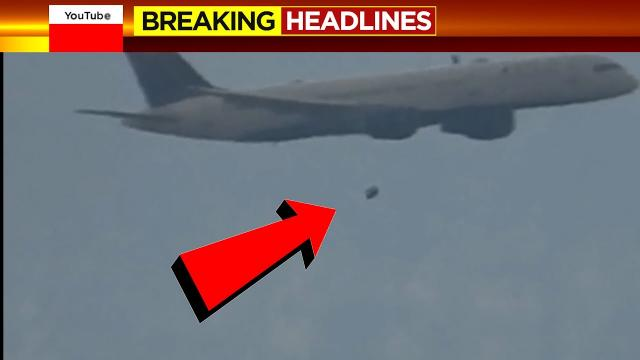 WHOA! Way to close! UFO Almost Collides With Commercial Airliner? BUCKLE-UP!