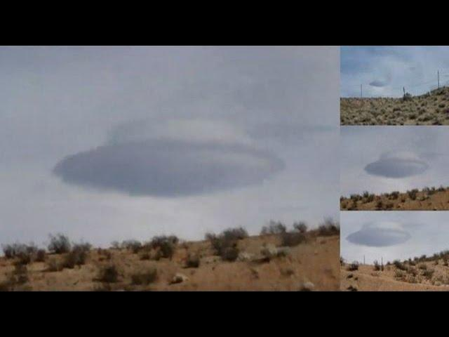 Massive cloaked Flying Saucer caught on camera near Las Vegas