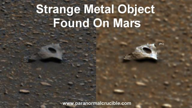 Strange Metal Object  Found On Mars