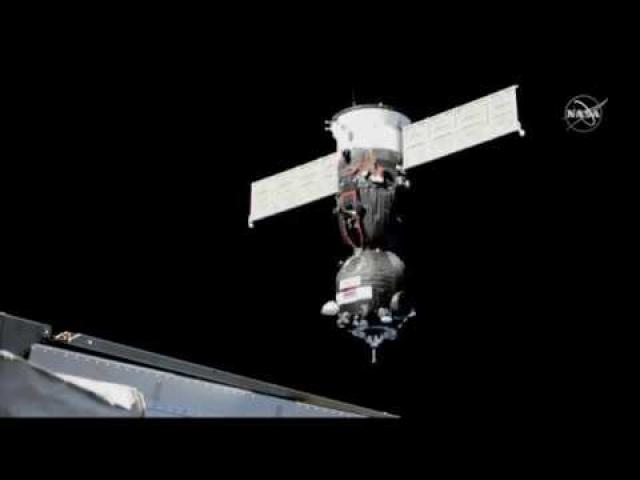 Soyuz  Docks with Space Station in Return to Crewed Flight