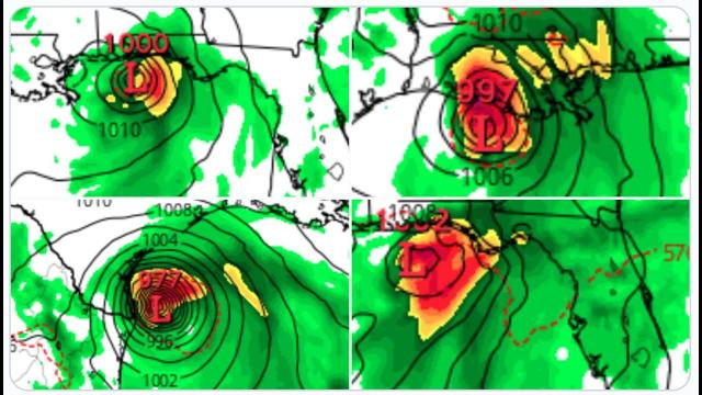 ALERT! 6 of the last 10 GFS Runs show a TS or Hurricane making landfall from Texas to Florida