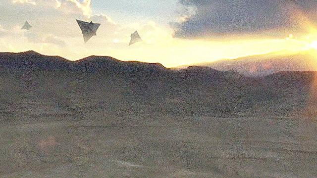 ???? UFO Fleet Filmed by Airplane Pilot in NAMIBIA (CGI)