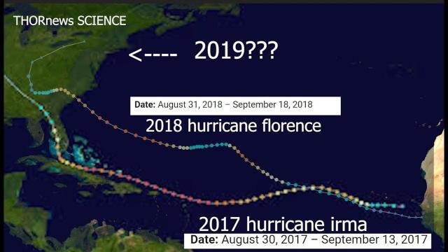 September 2019 Hurricane, Neptune Alignment & Hurricane Charlie