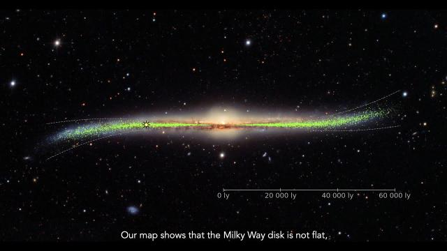 New Milky Way 3D Map Reveals S-Like Structure