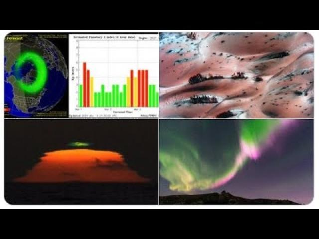 Signs in the Heavens! Palm Trees on Mars? Sunspots! Geomagnetic Storms! Solar Flares! Auroras!