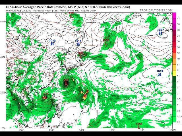 A Triple Typhoon formation is an omen of wild global Weather.