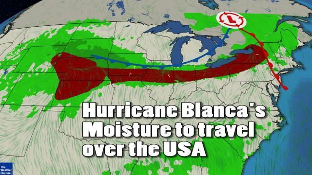 Weird Weather Watch - Hurricane Blanca moisture & heat to travel across the USA