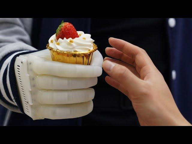 Inflatable robotic hand gives amputees real time tactile control