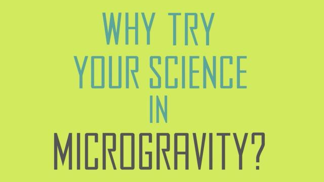 Why Try Science in Microgravity