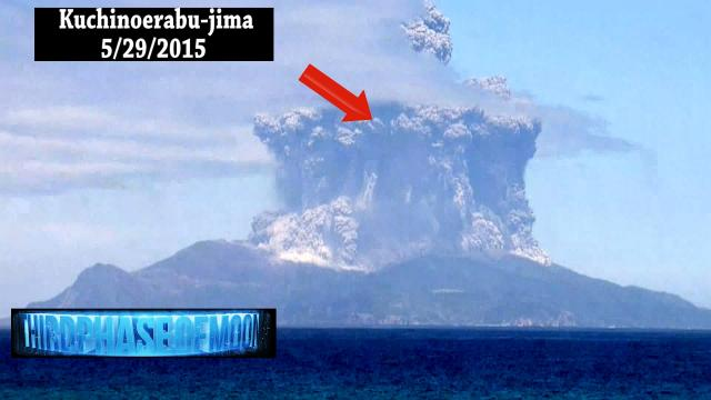 Breaking News! UFO Sightings Enhanced Footage UFO Volcano Japan 5/29/2015