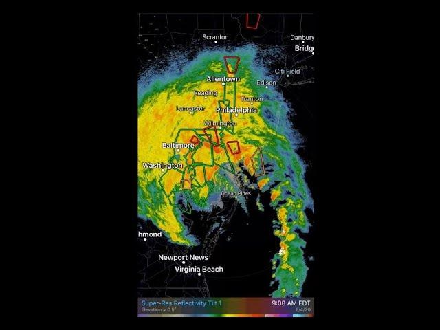 Monster Storm Isaias continues to wreak havoc on the North East USA.