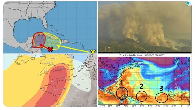 3 Areas for Hurricane Watch! Canada Storm! Europe Storm! Red Colorado Sun & Wildfires!