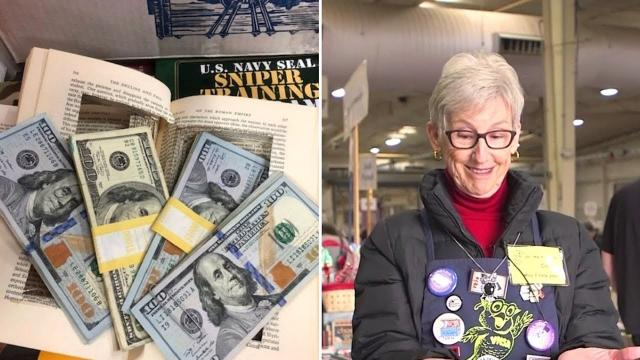 Woman Finds $4K Inside Hollowed Out Book, Then Reveals Plan to Her Family