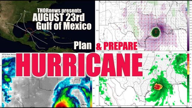 DANGER! Hurricane! August 23rd! Texas? Florida? Mississippi? Alabama? Louisiana?
