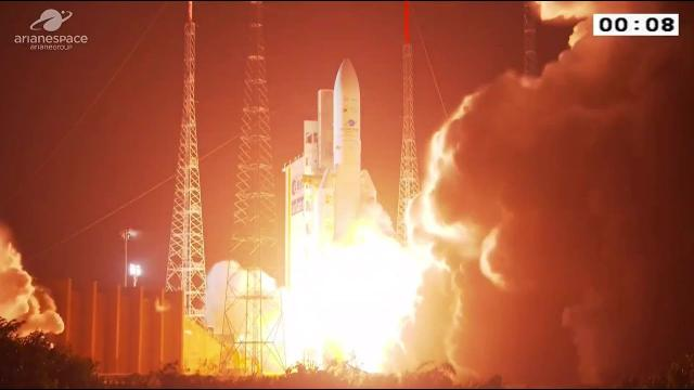 Ariane 5 Rocket launches satellites for Japan and South Korea