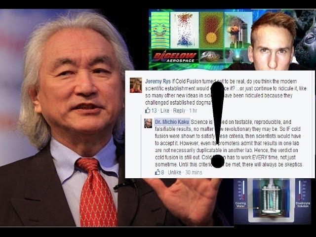Dr. Michio Kaku has Replied to my Question on Cold Fusion! Here is my Response