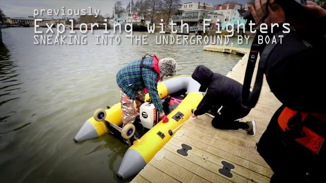 Underground Bristol by Boat WE DRAG A LIFERAFT IN!