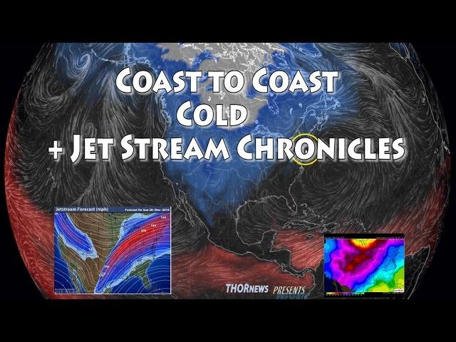Freezing cold USA Coast to Coast & a drunken Jet Stream