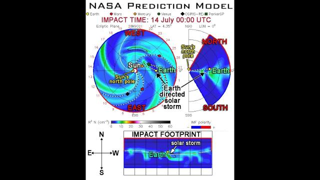 Solar Storm to hit Earth July 14th!?! Probably.