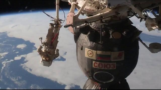 Incredible View of Russian Spacewalker Captured by Space Station