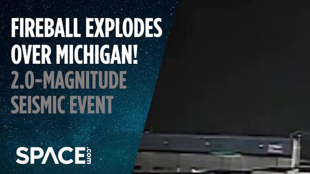 Fireball Explodes Over Michigan! 2.0-Magnitude Seismic Event