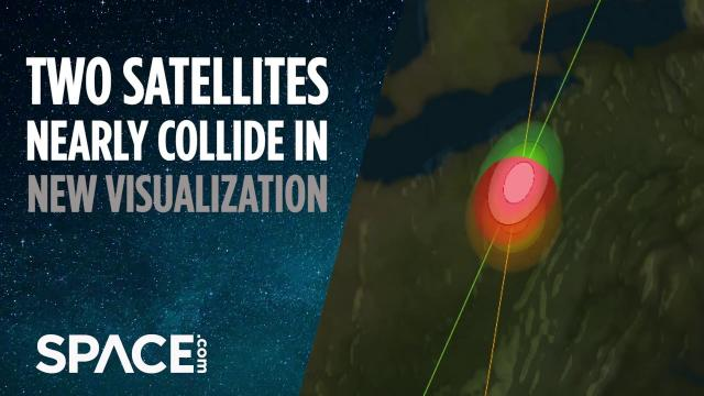 Two satellites nearly collide over US in new visualization