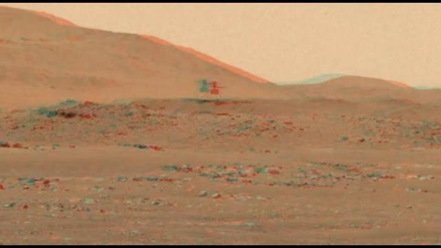 See the Ingenuity helicopter fly on Mars in 3D