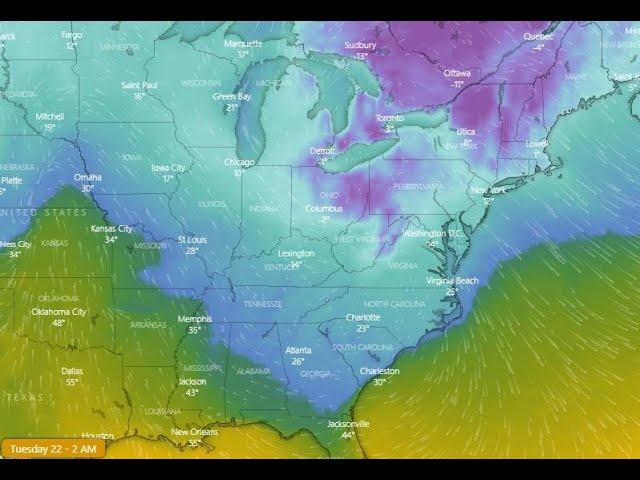 The INSTANT FREEZE has Begun! N. EAST COAST prepare for a rough 2 weeks.