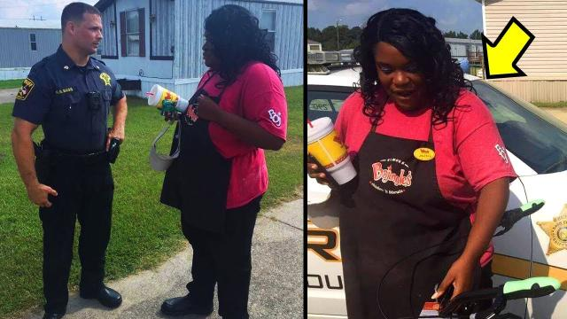 Woman Walks 12 Miles To Work Until One Day Cop Follows Her And Sees Why