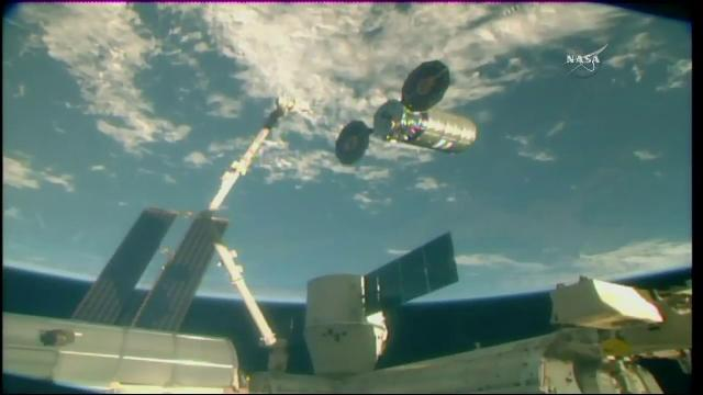 Cygnus Spacecraft Departs the International Space Station