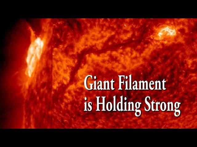 Sun update: giant Filament still holding strong