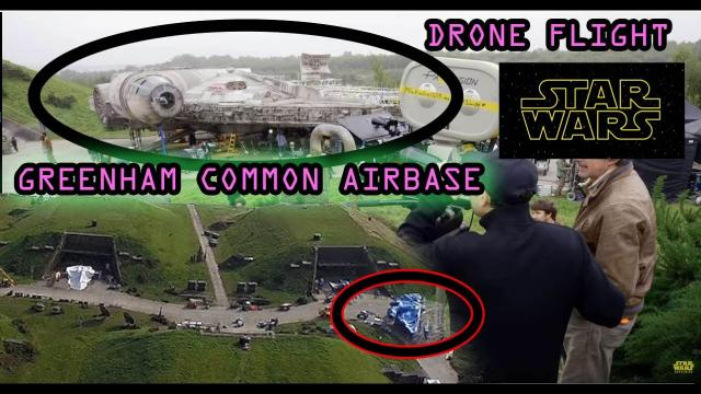 Greenham Common Drone 2017 Silos and Control Tower 4k and STAR WARS location