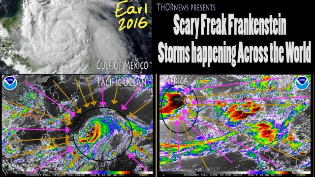 Scary Frankenstein Storms happening across the World!