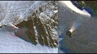 Mystery Object on the slope of a hill in Antarctica