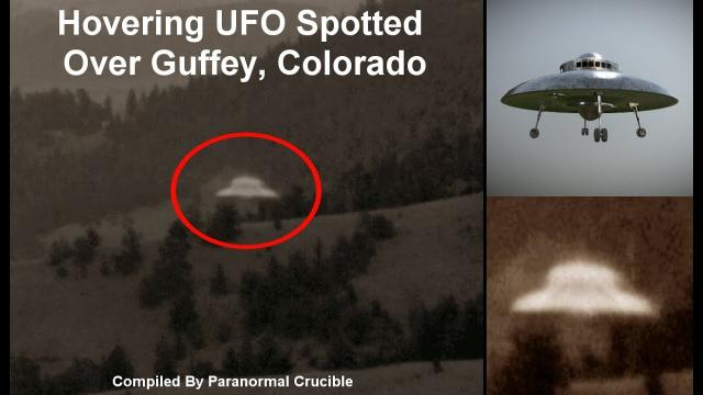 Hovering UFO Spotted  Over Guffey, Colorado?