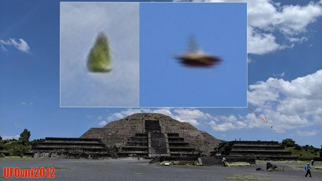 Awesome UFO Over Pyramid in Teotihuacan, Mexico On Aug 28, 2019
