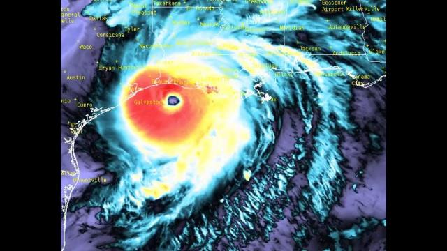 223 MPH wind gust recorded as Category 4 Hurricane Laura approaches Lake Charles Louisiana Landfall.