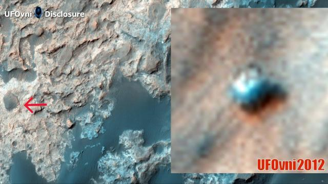 Mystery white Rectangular UFO spotted on surface of Mars by NASA satellite by Alien Hunters