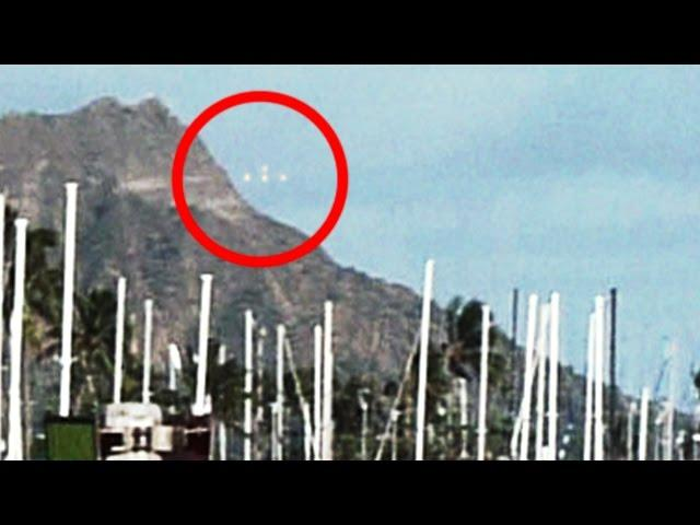 UFO A Group Of Unidentified Flying Objects Recorded On Video In Hawaii