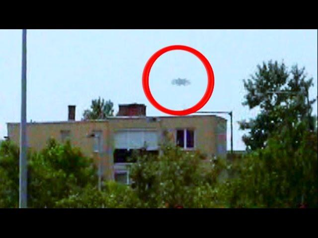 UFO Flying Over A Building In Hungary September 2014